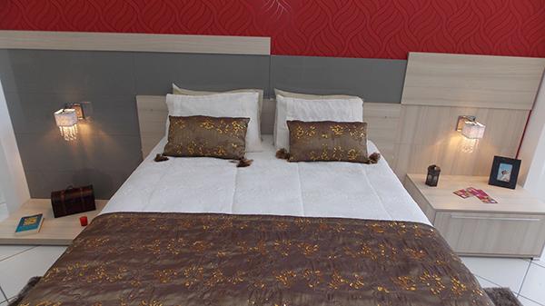 Dormitório casal Laca cinza