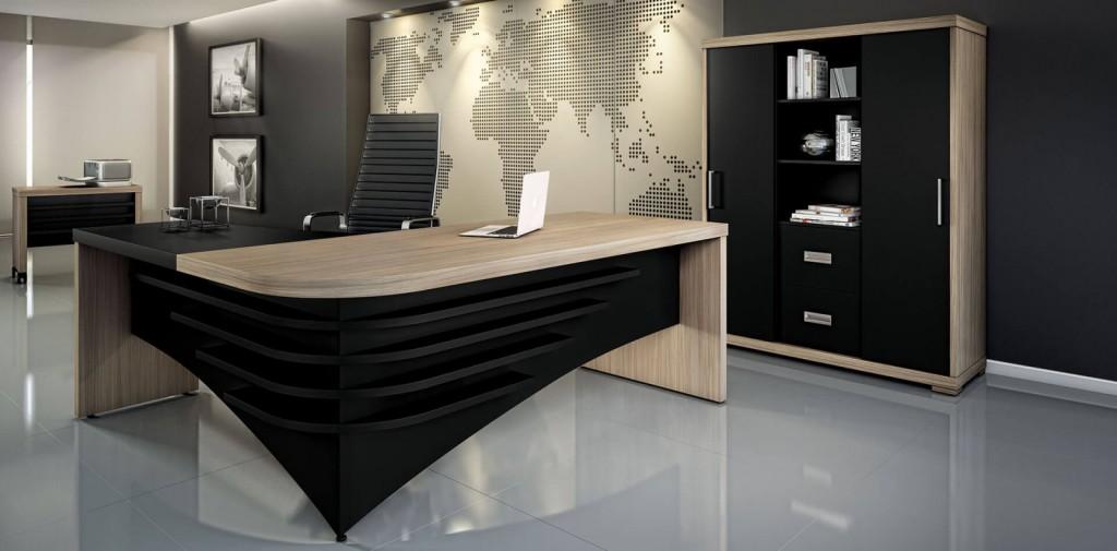 Escritório Executiva grigio e preto